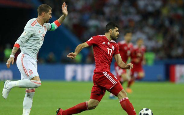 بازی جانانه ملی پوشان : ایران 0- اسپانیا 1