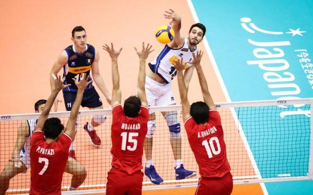 والیبال ایران بازی برده را به تیم دوم ایتالیا باخت