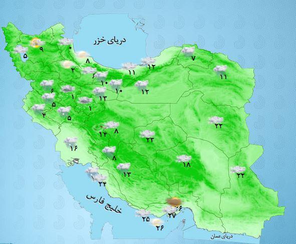 جوی ناآرام و آسمانی ابری تا پایان روز یازدهم نوروز برای کل کشور