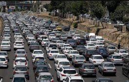 ترافیک سنگین جاده های پرتردد